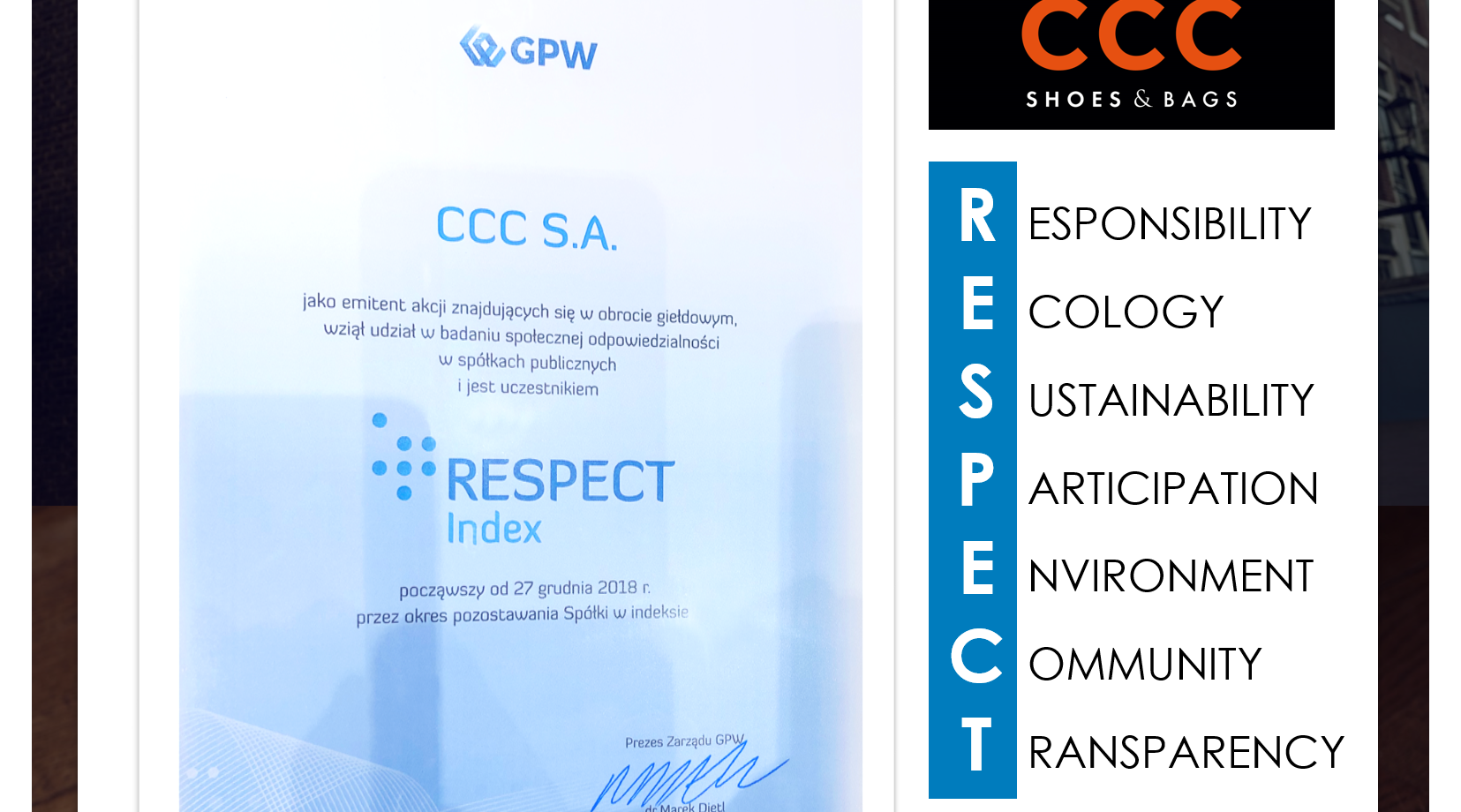 CCC w Respect Index na GPW